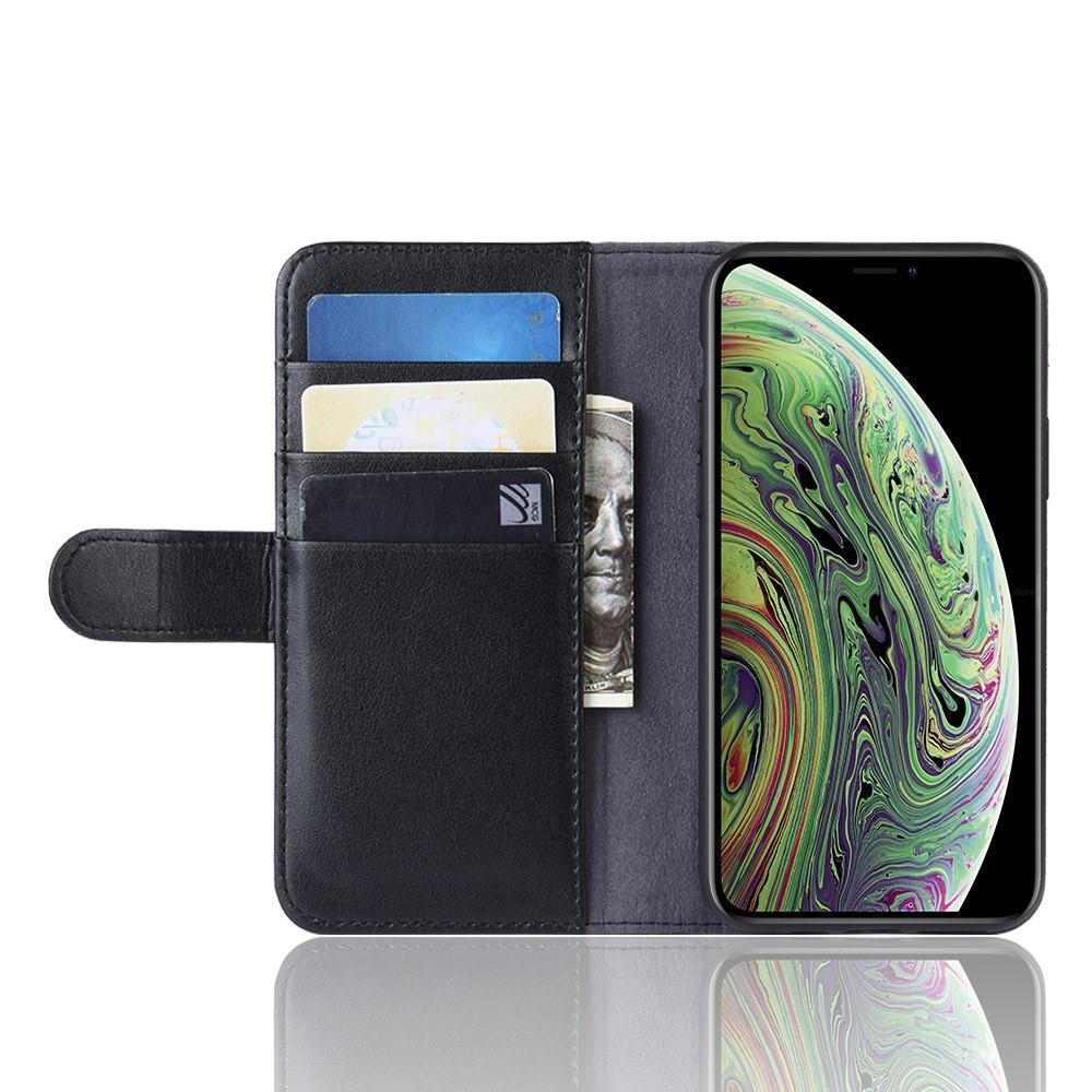 Ekte Lærveske iPhone 11 Pro svart