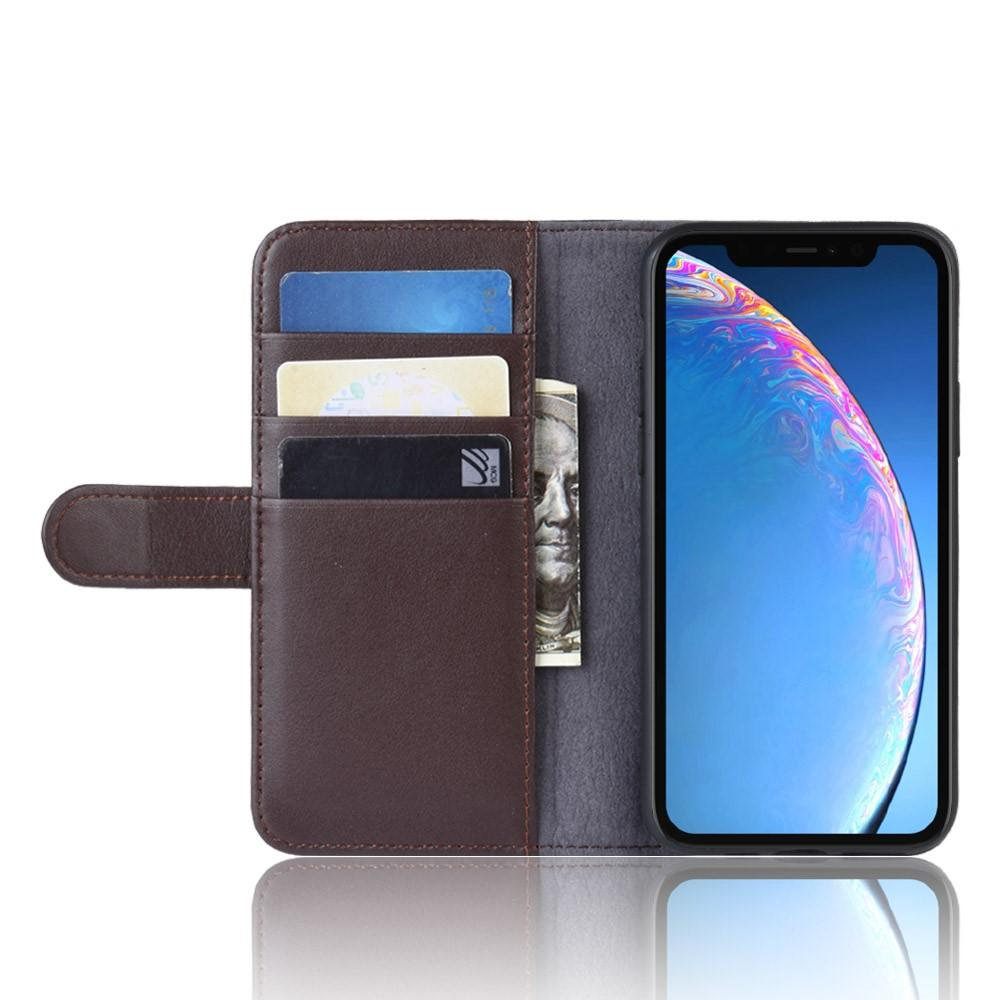 Ekte Lærveske iPhone 6.1 2019 brun