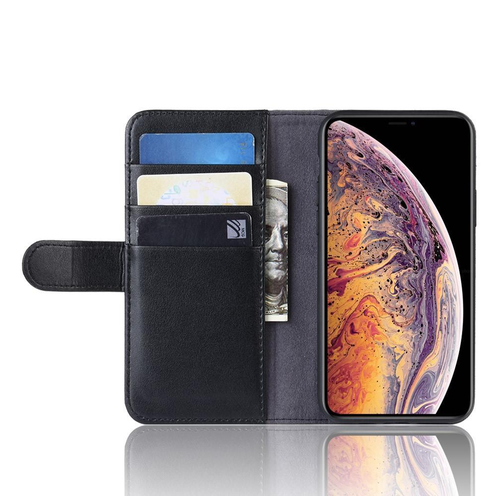 Ekte Lærveske iPhone 11 Pro Max svart