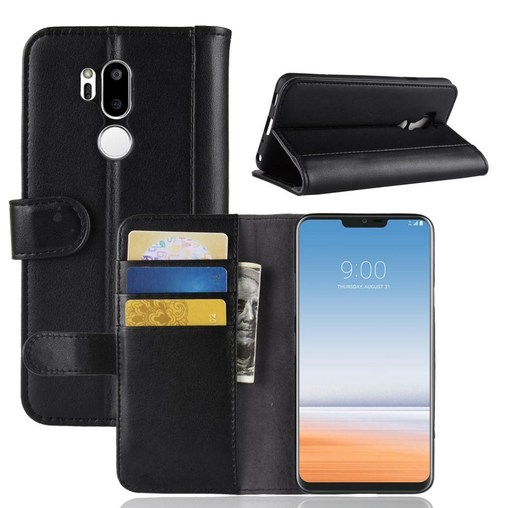 Ekte Lærveske LG G7 Thinq svart