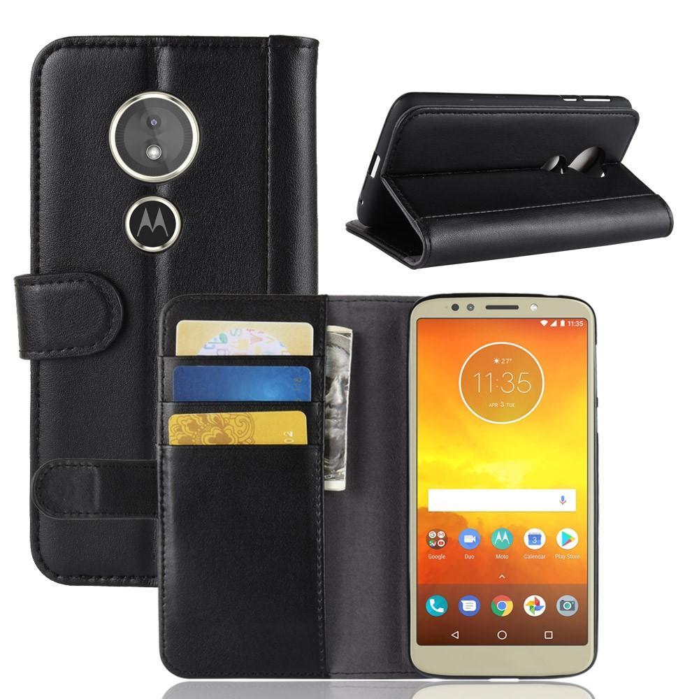 Ekte Lærveske Motorola Moto E5/G6 Play svart