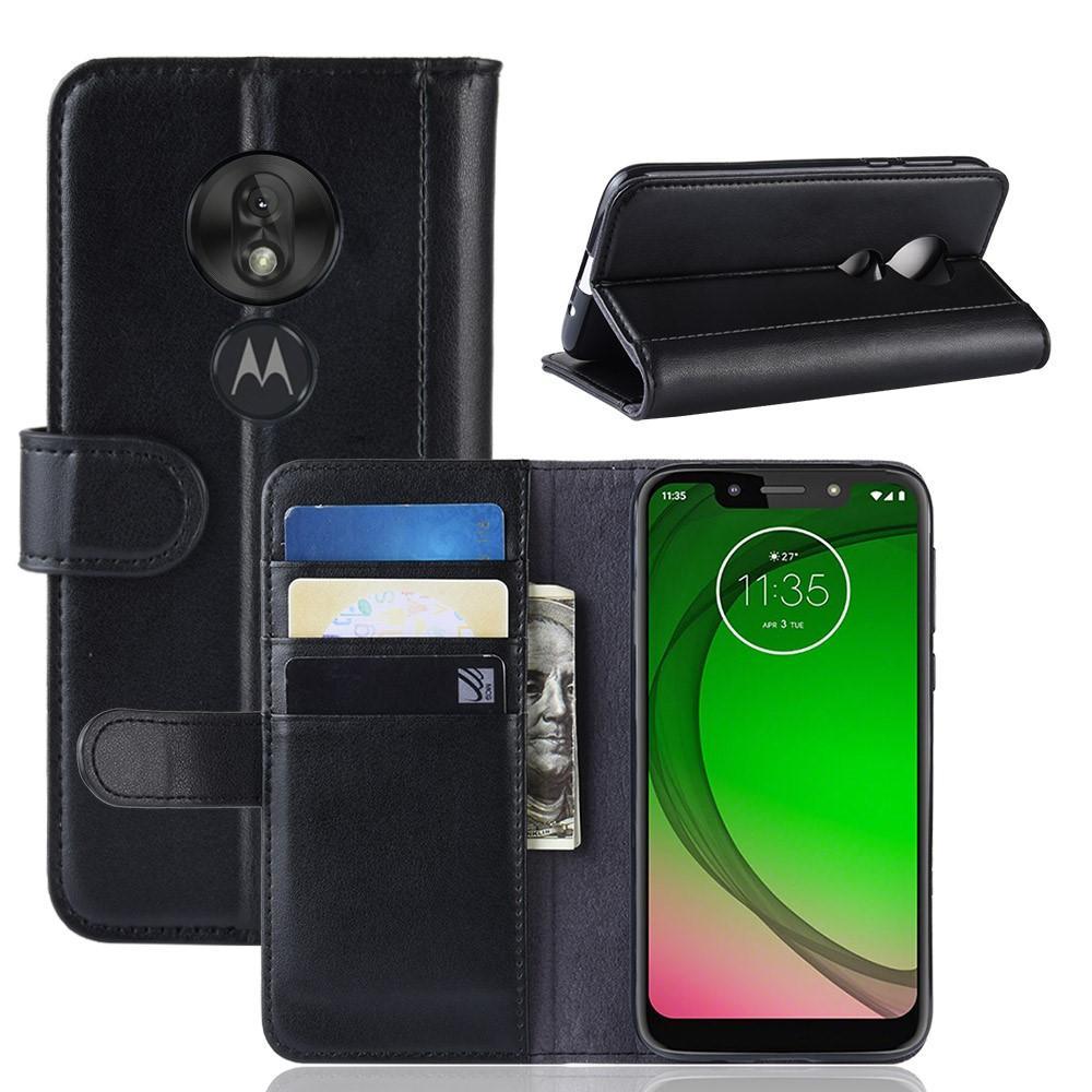 Ekte Lærveske Motorola Moto G7 Play svart