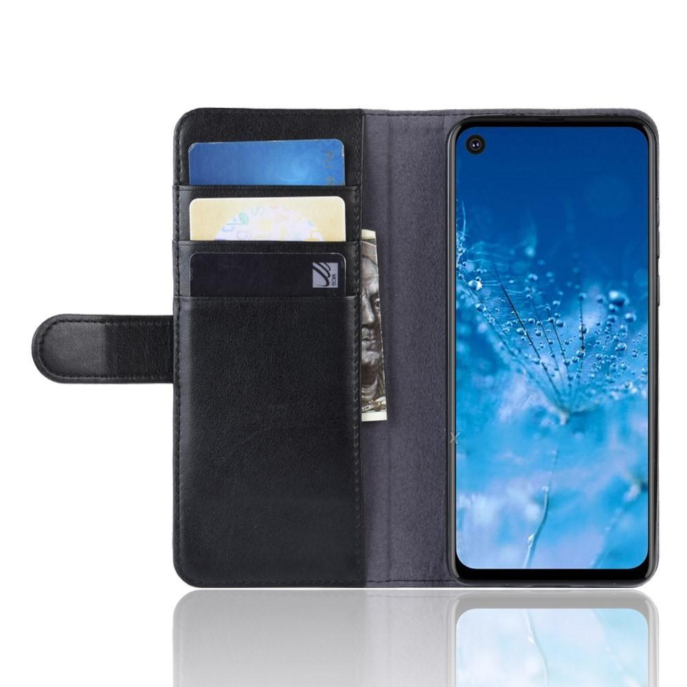Ekte Lærveske Motorola One Action svart