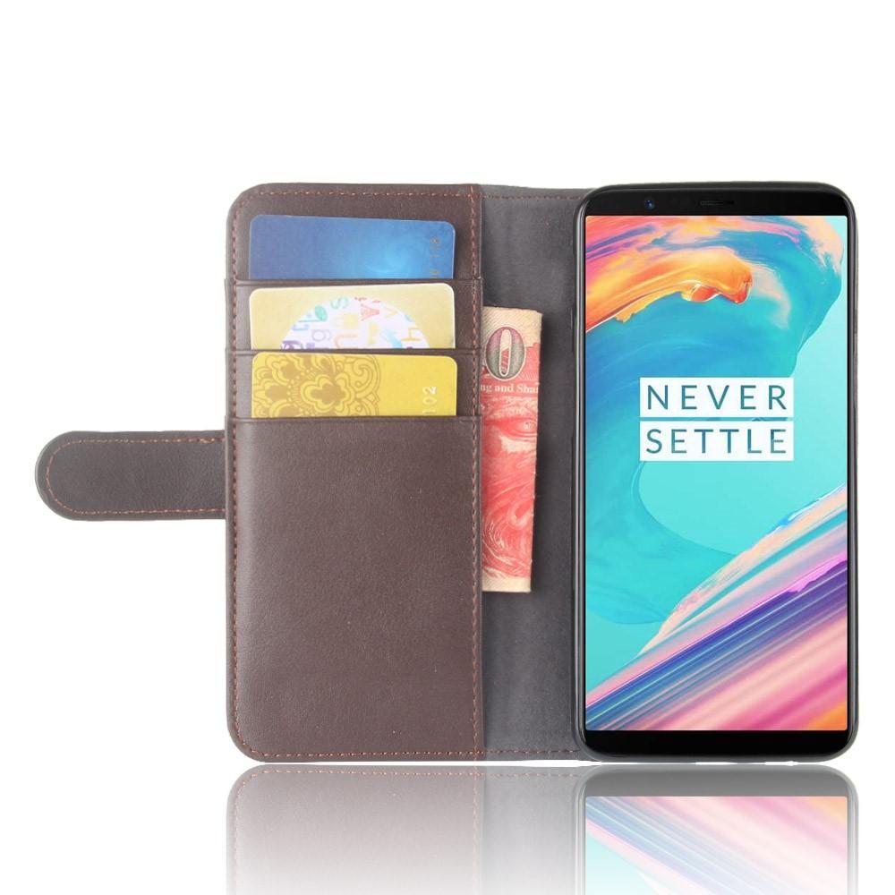 Ekte Lærveske OnePlus 5T brun