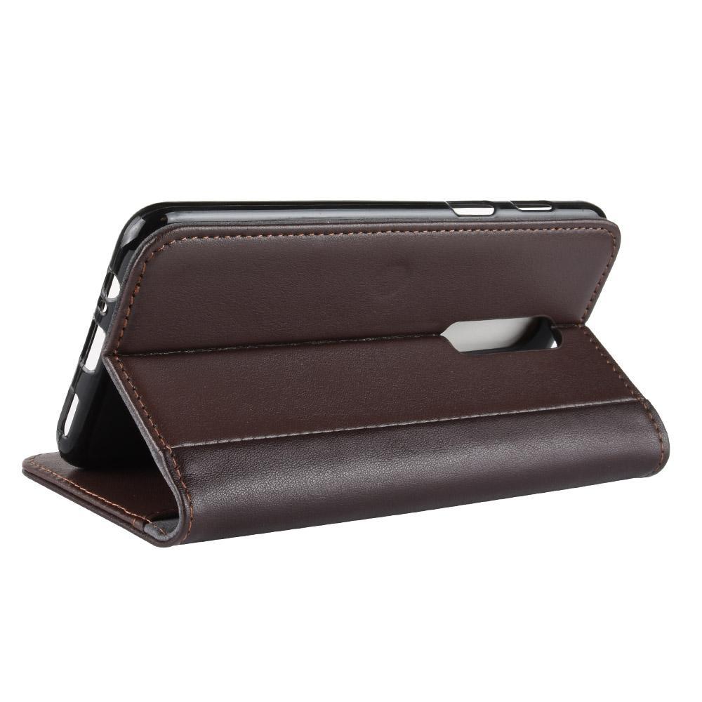 Ekte Lærveske OnePlus 6 brun