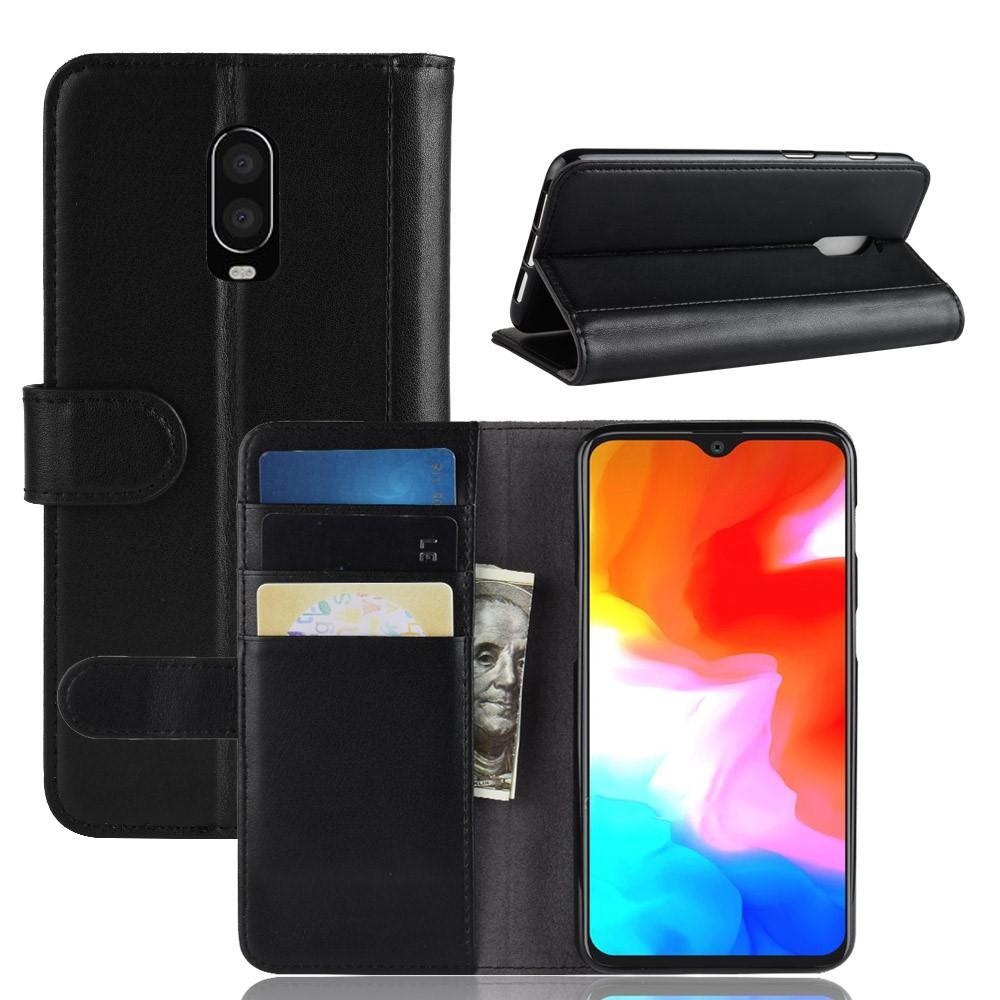 Ekte Lærveske OnePlus 6T svart