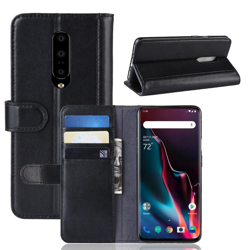Ekte Lærveske OnePlus 7 Pro svart