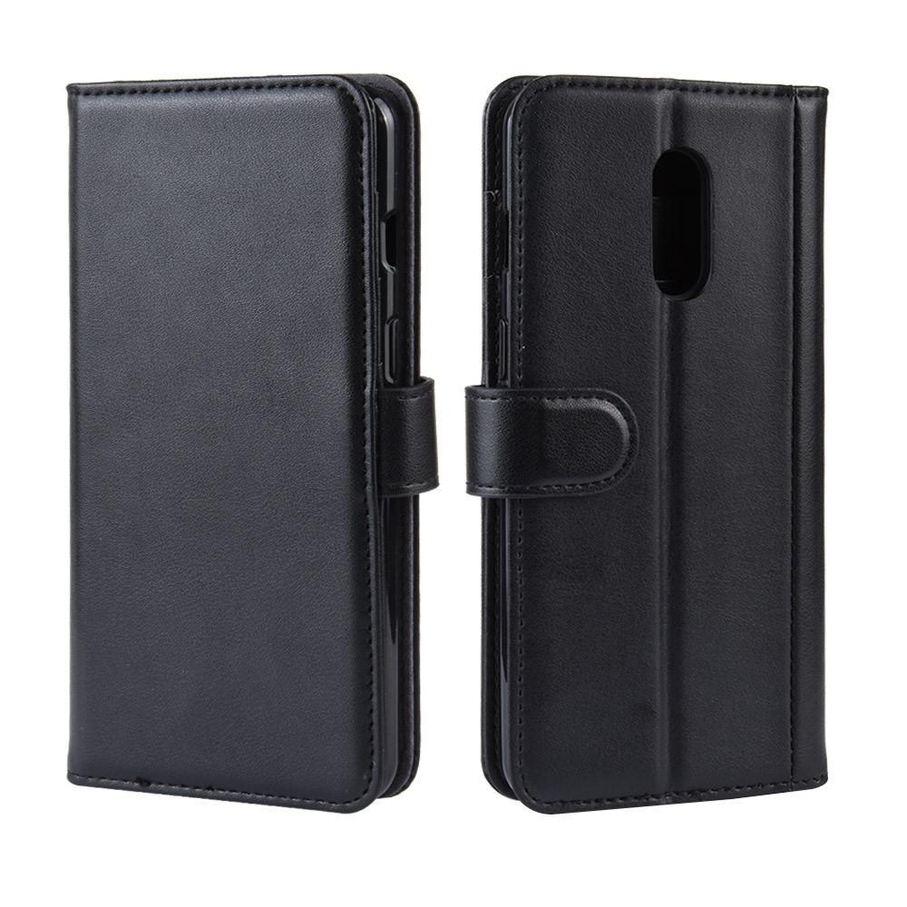 Ekte Lærveske OnePlus 7 svart