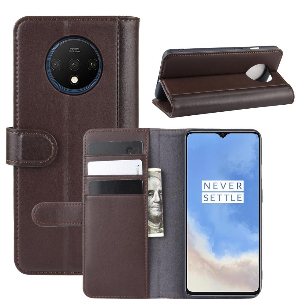 Ekte Lærveske OnePlus 7T brun