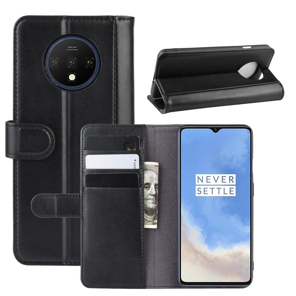 Ekte Lærveske OnePlus 7T svart