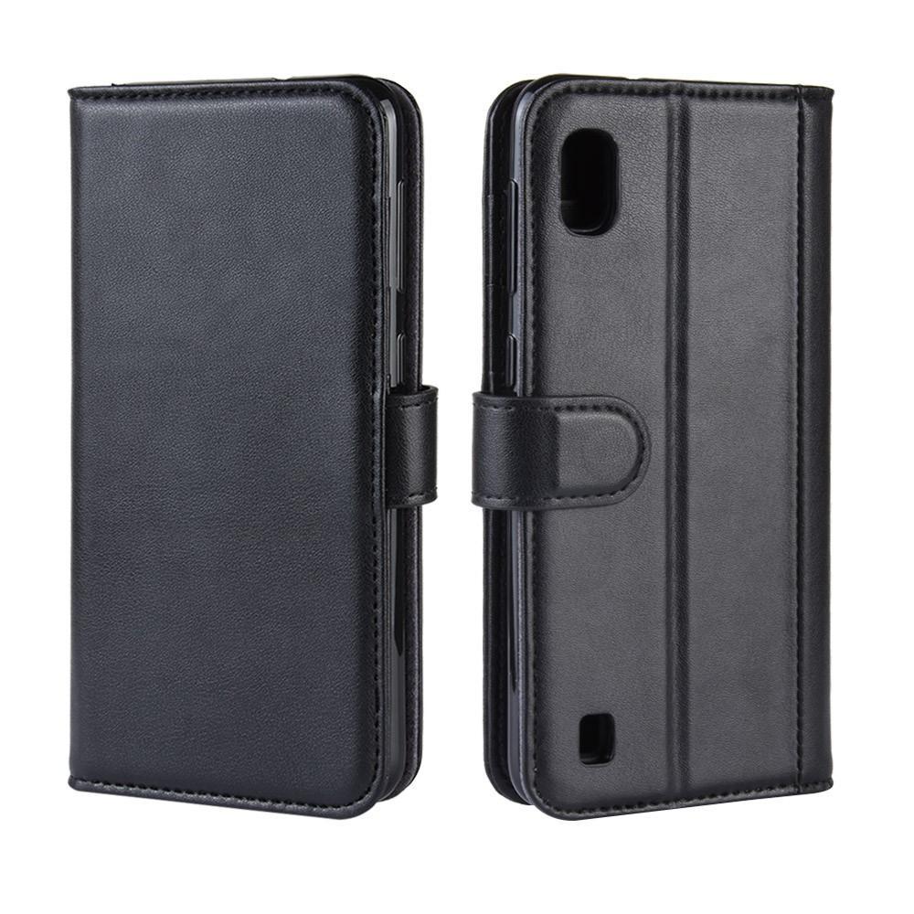 Ekte Lærveske Samsung Galaxy A10 svart