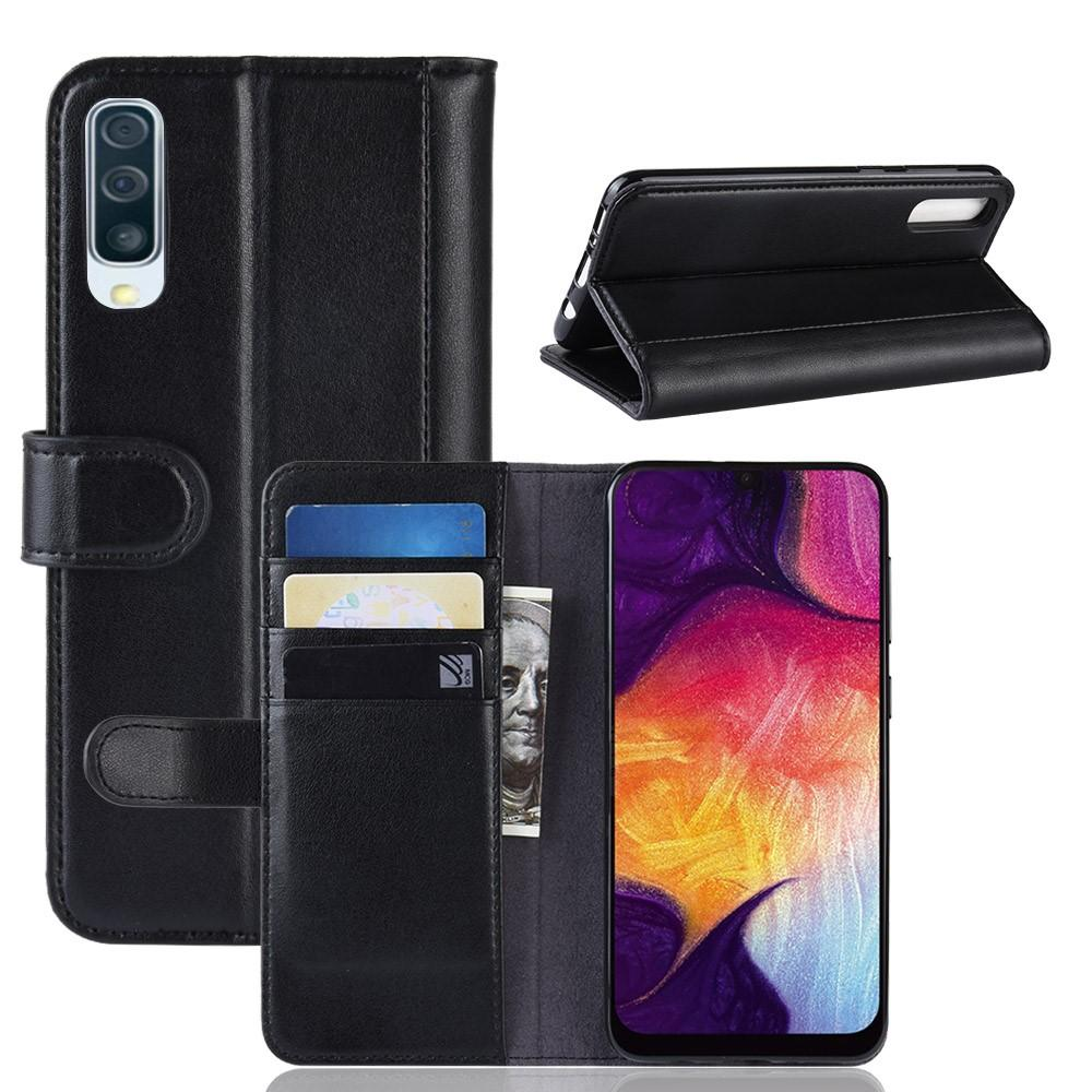 Ekte Lærveske Samsung Galaxy A50 svart