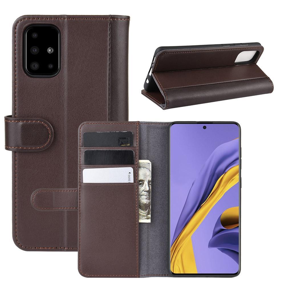 Ekte Lærveske Samsung Galaxy A51 brun