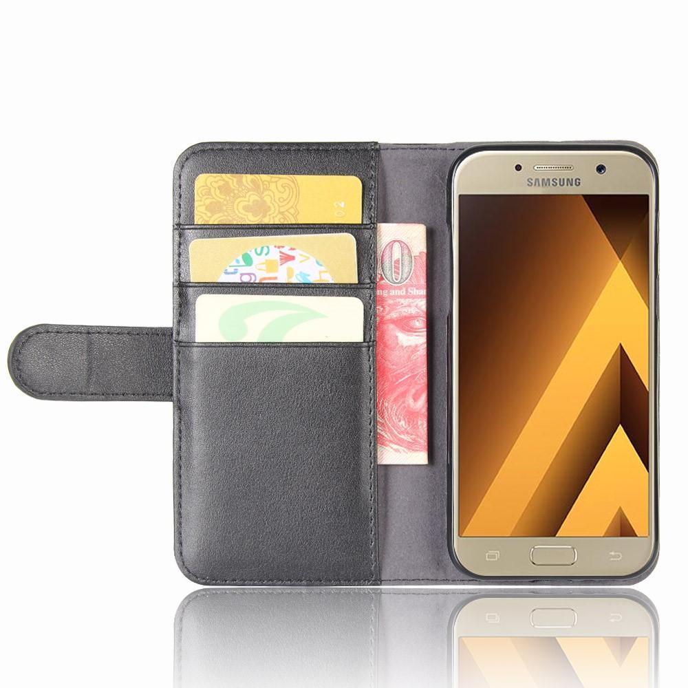 Ekte Lærveske Samsung Galaxy A5 2017 svart