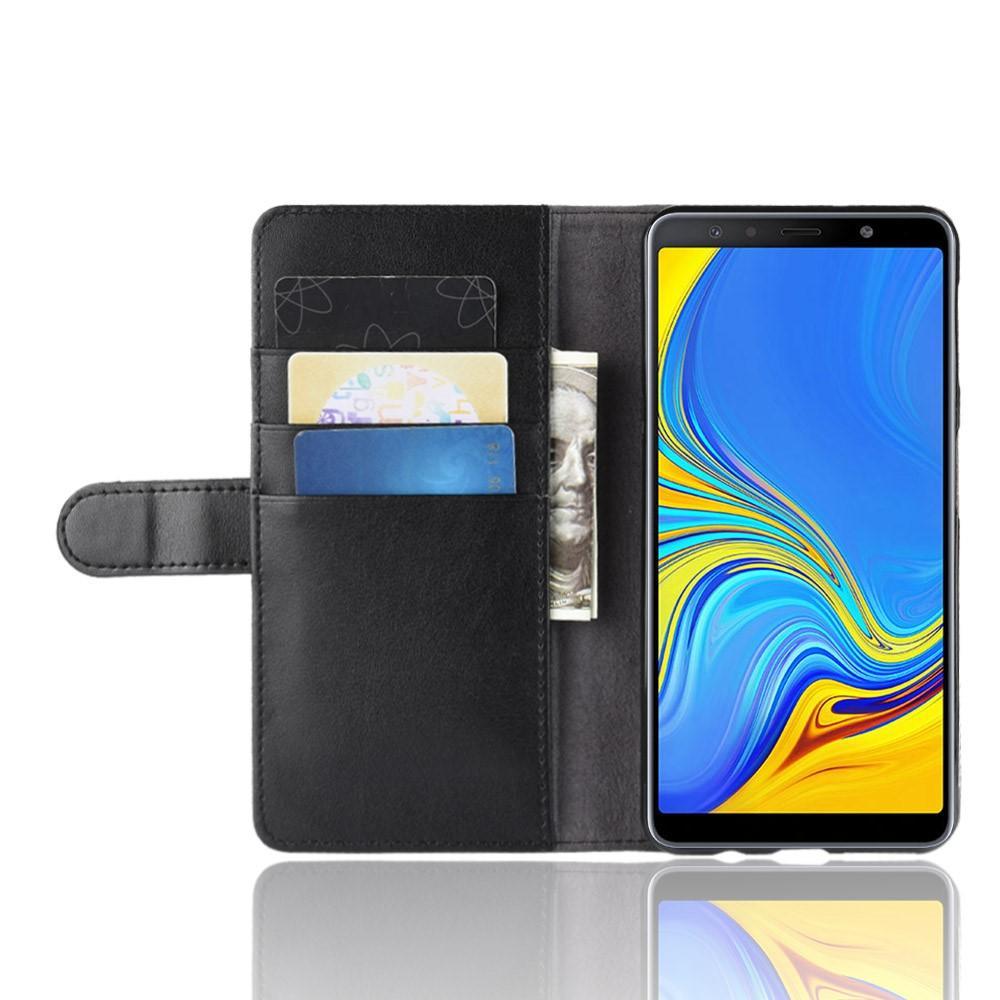 Ekte Lærveske Samsung Galaxy A7 2018 svart