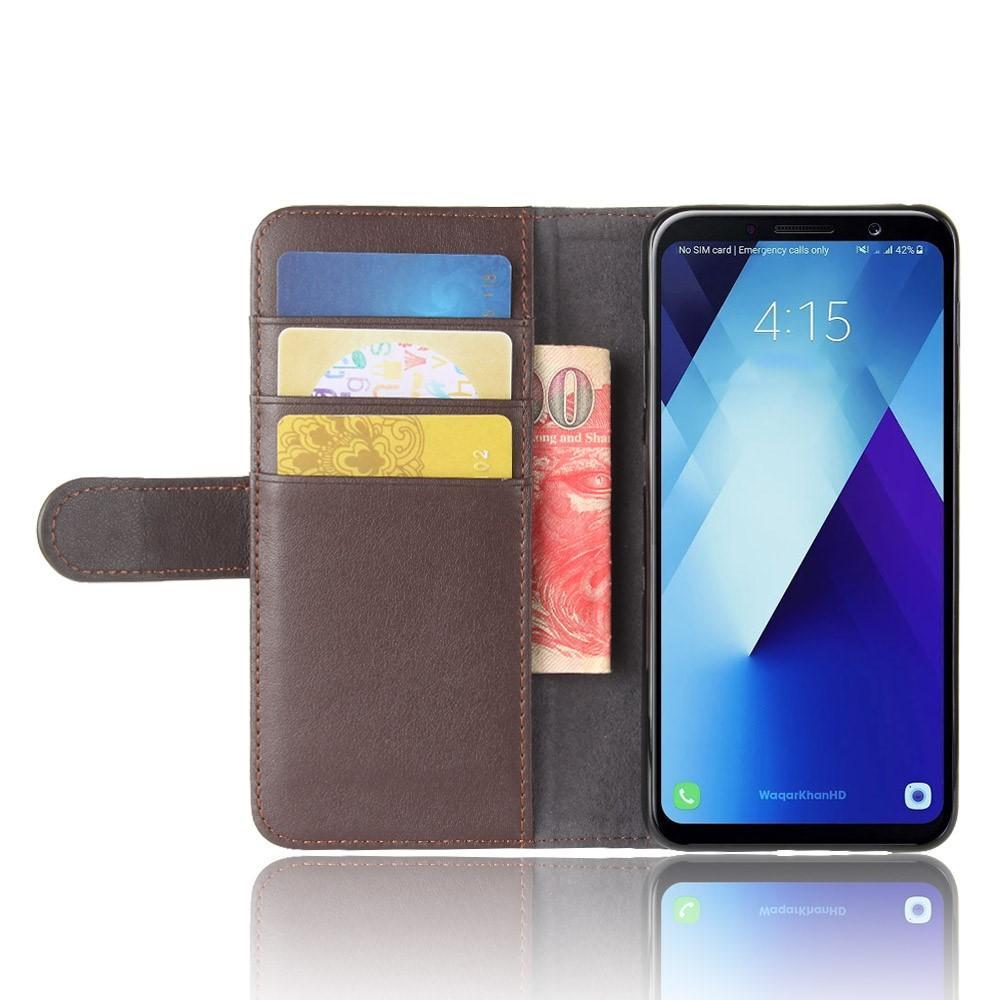 Ekte Lærveske Samsung Galaxy A8 2018 brun