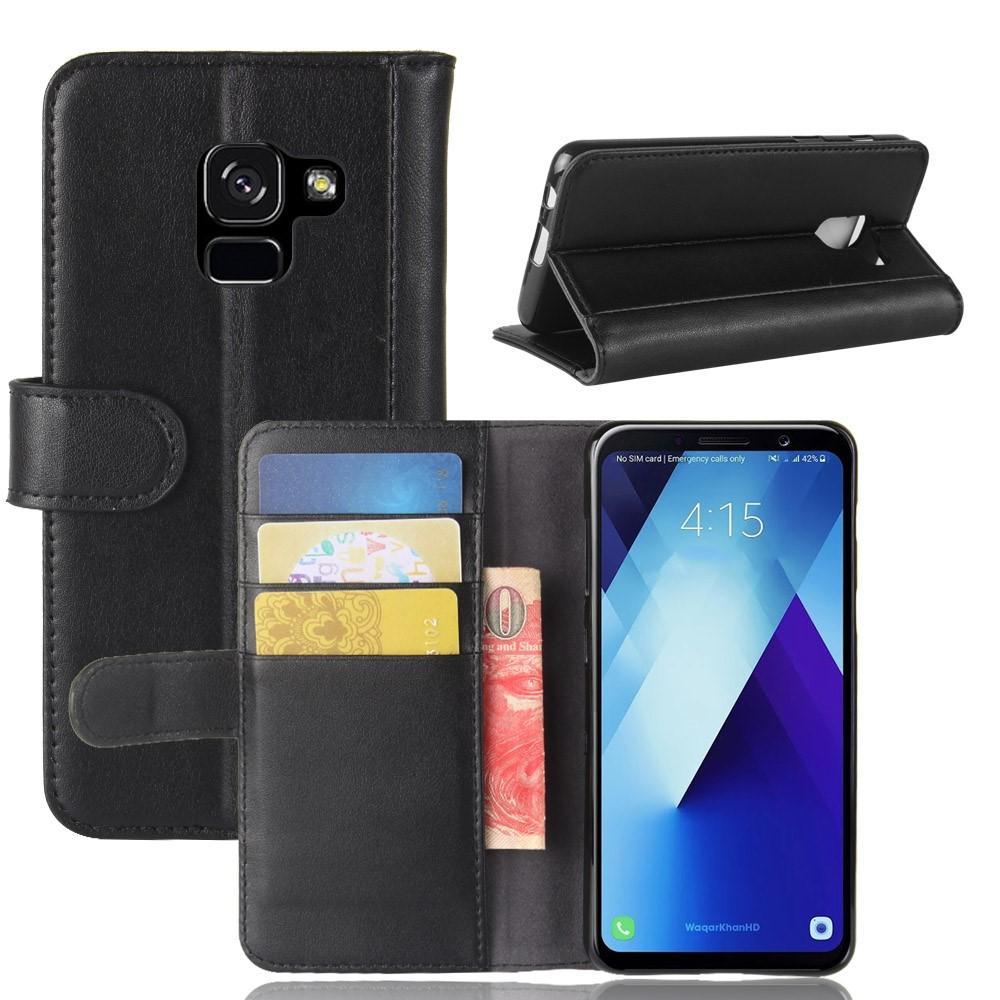 Ekte Lærveske Samsung Galaxy A8 2018 svart