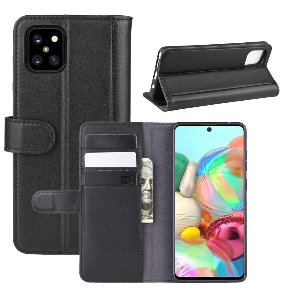 Ekte Lærveske Samsung Galaxy Note 10 Lite svart