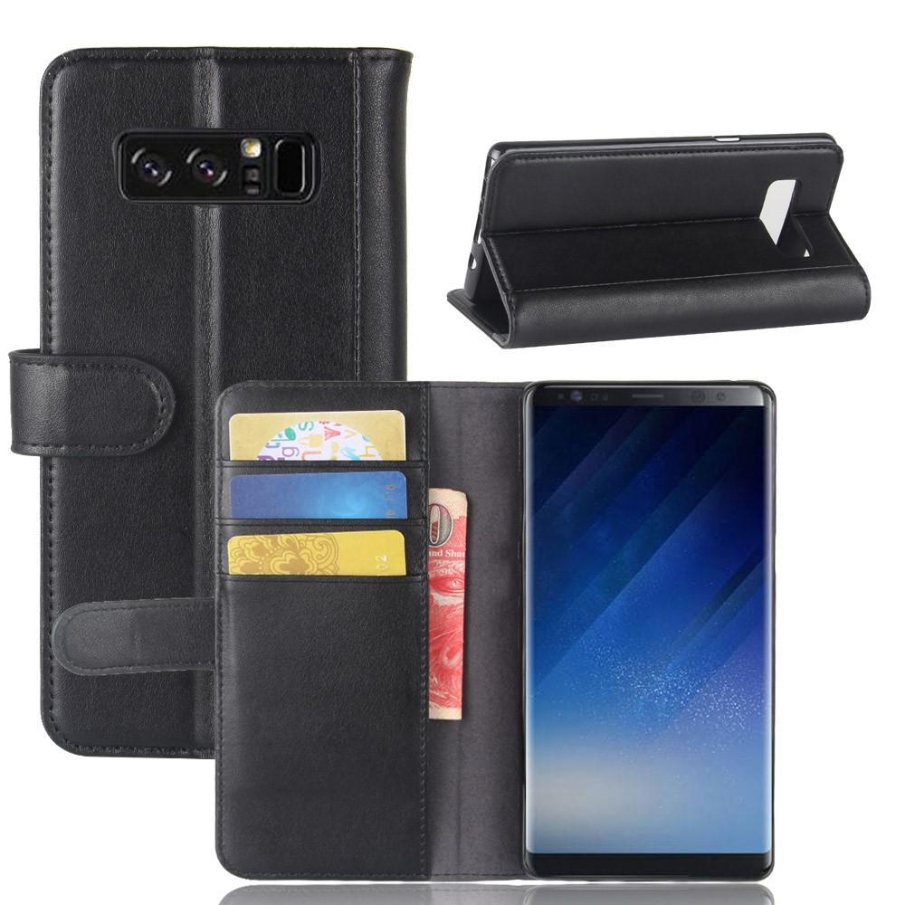 Ekte Lærveske Samsung Galaxy Note 8 svart