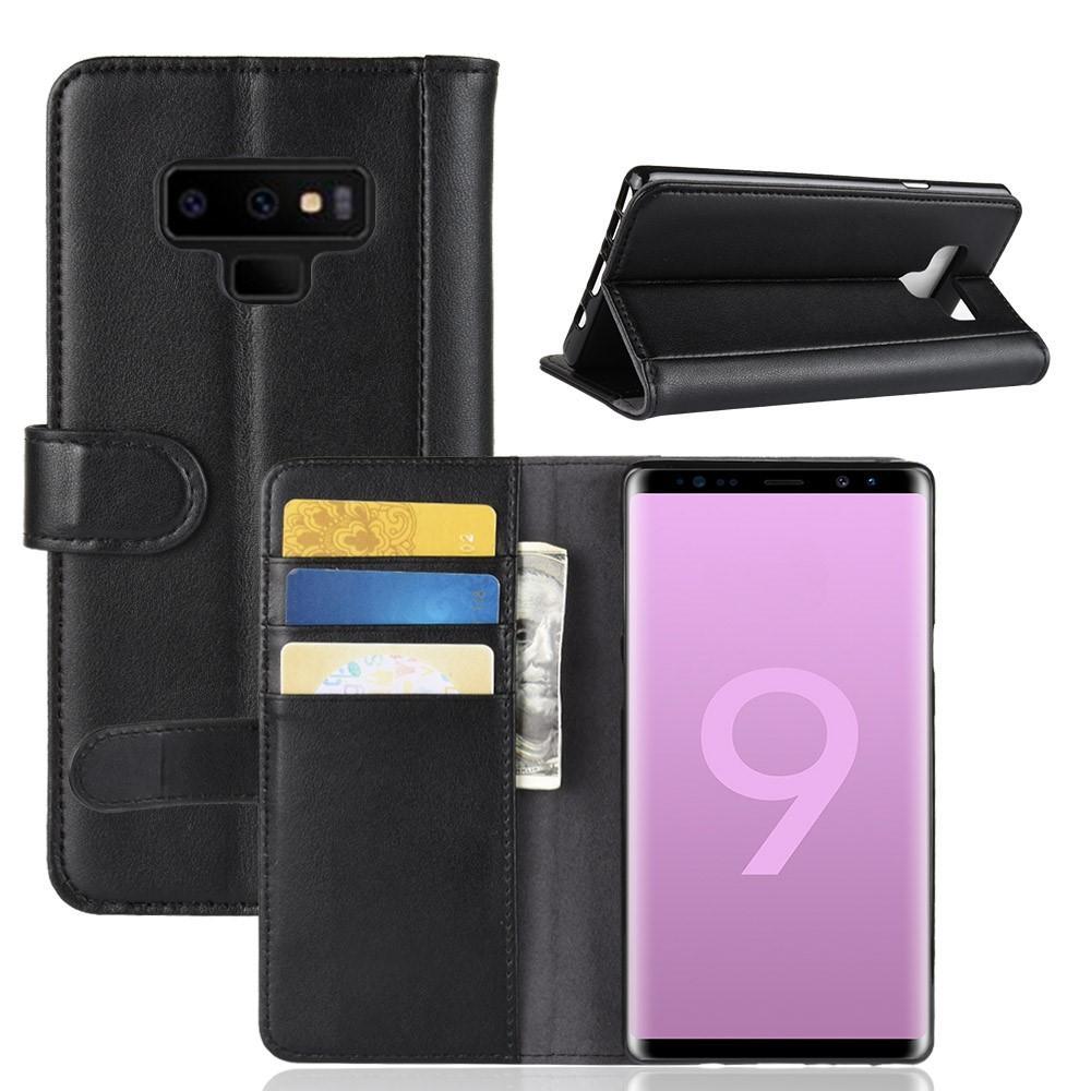 Ekte Lærveske Samsung Galaxy Note 9 svart