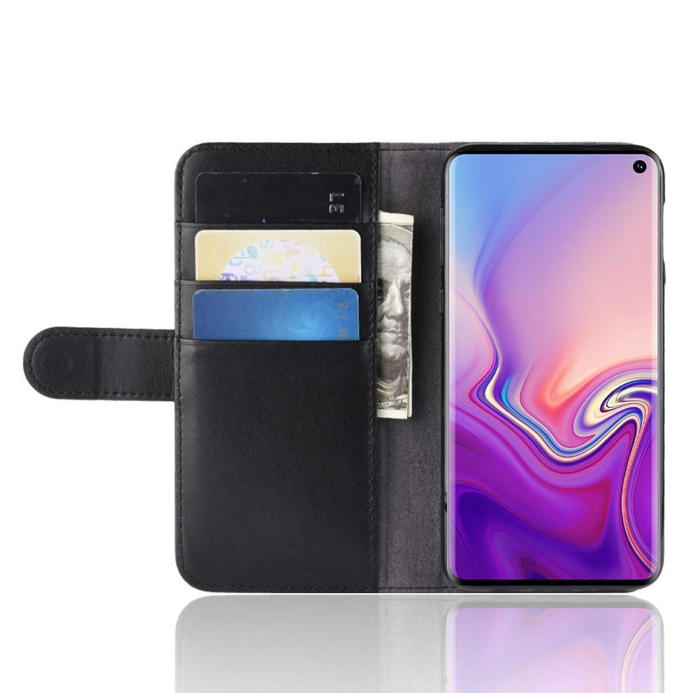 Ekte Lærveske Samsung Galaxy S10e svart