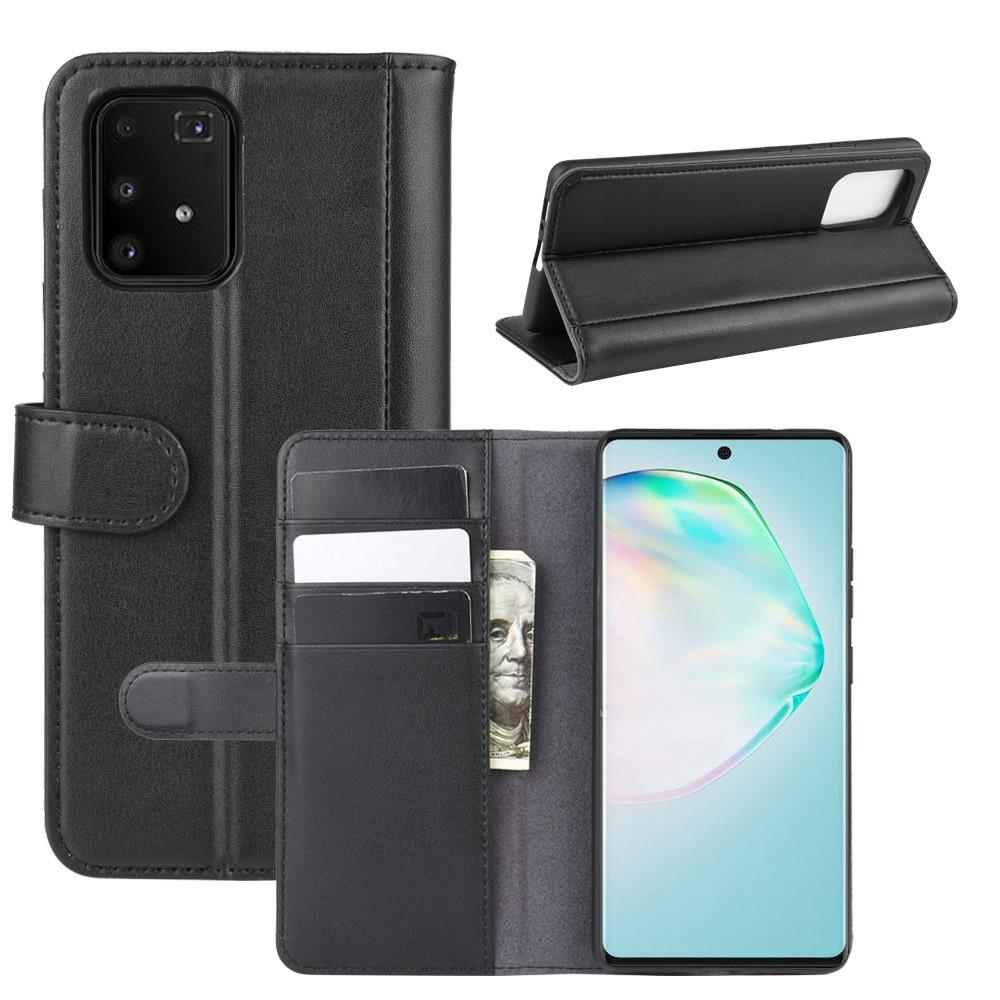 Ekte Lærveske Samsung Galaxy S10 Lite svart