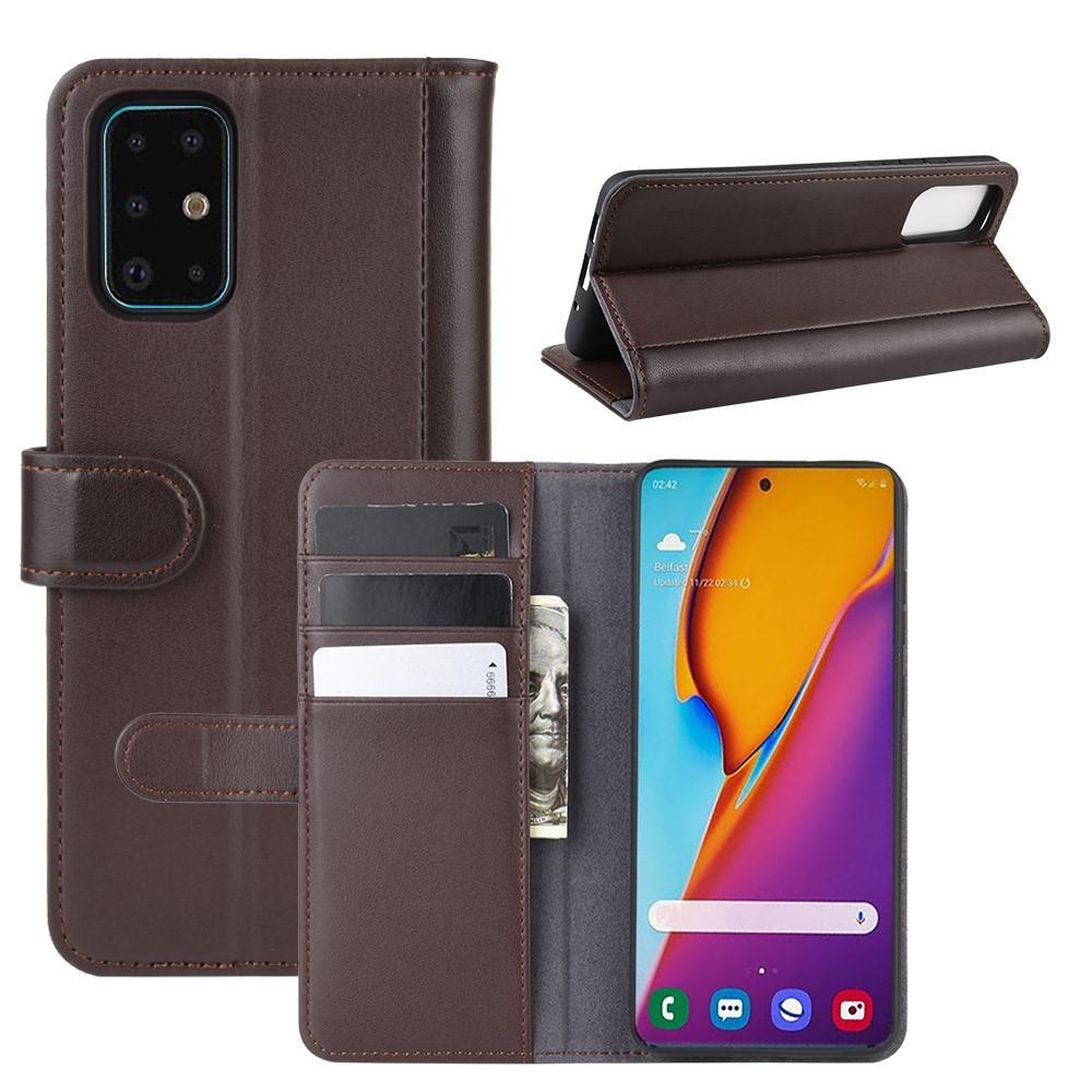 Ekte Lærveske Samsung Galaxy S20 Plus brun