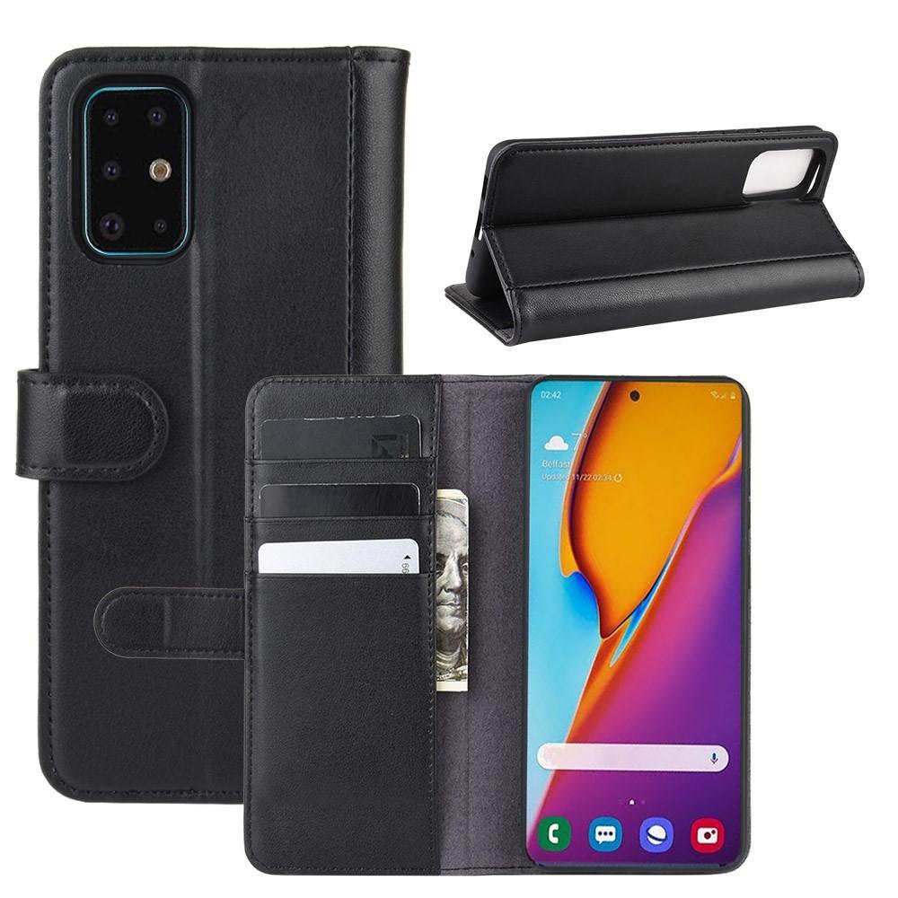 Ekte Lærveske Samsung Galaxy S20 Plus svart