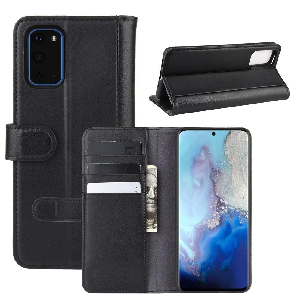 Ekte Lærveske Samsung Galaxy S20 svart