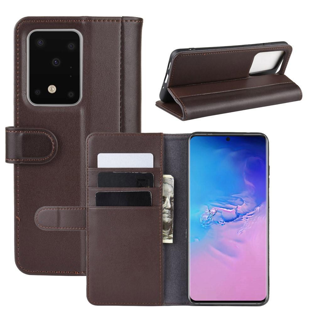 Ekte Lærveske Samsung Galaxy S20 Ultra brun