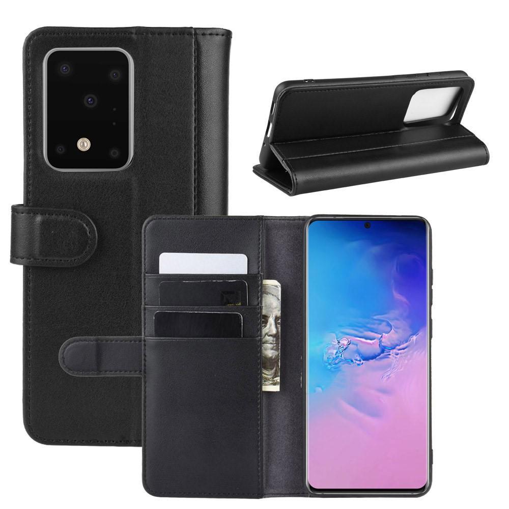 Ekte Lærveske Samsung Galaxy S20 Ultra svart
