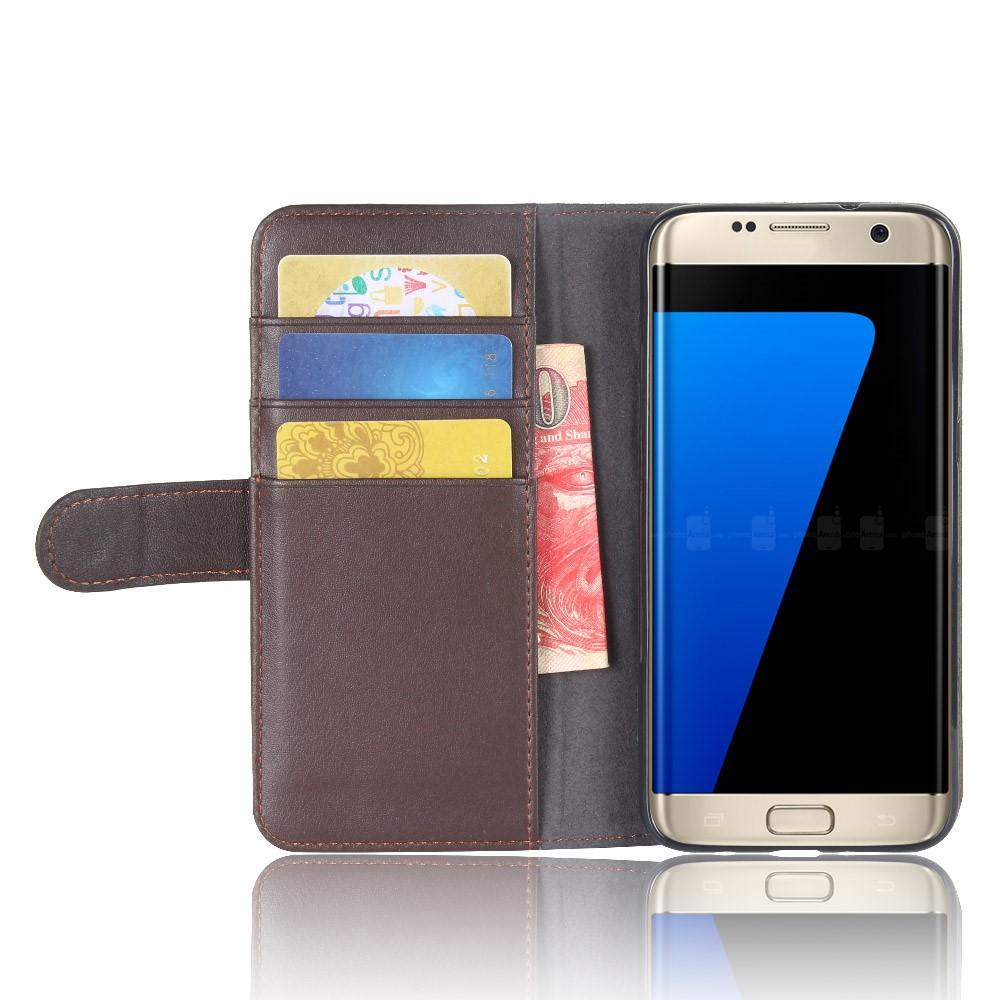 Ekte Lærveske Samsung Galaxy S7 Edge brun