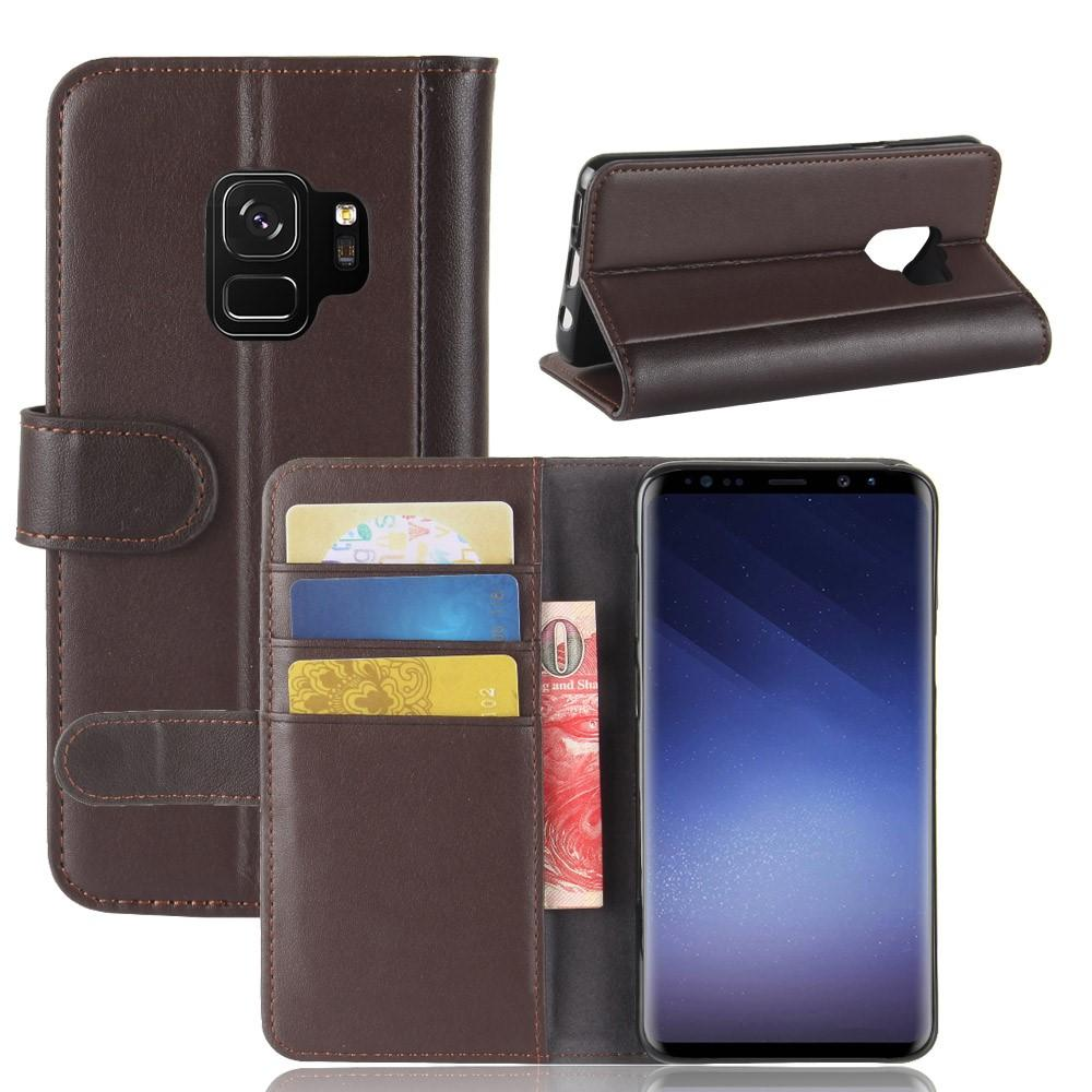 Ekte Lærveske Samsung Galaxy S9 brun