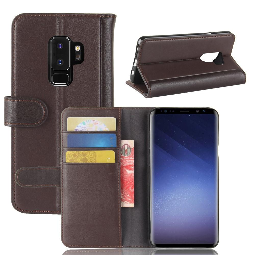 Ekte Lærveske Samsung Galaxy S9 Plus brun