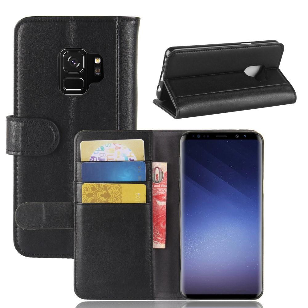 Ekte Lærveske Samsung Galaxy S9 svart