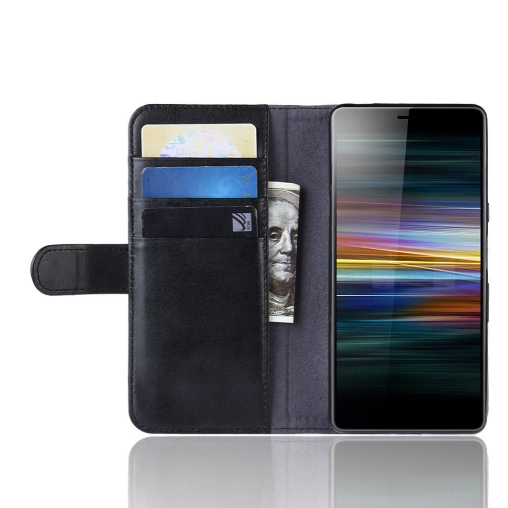 Ekte Lærveske Sony Xperia L3 svart