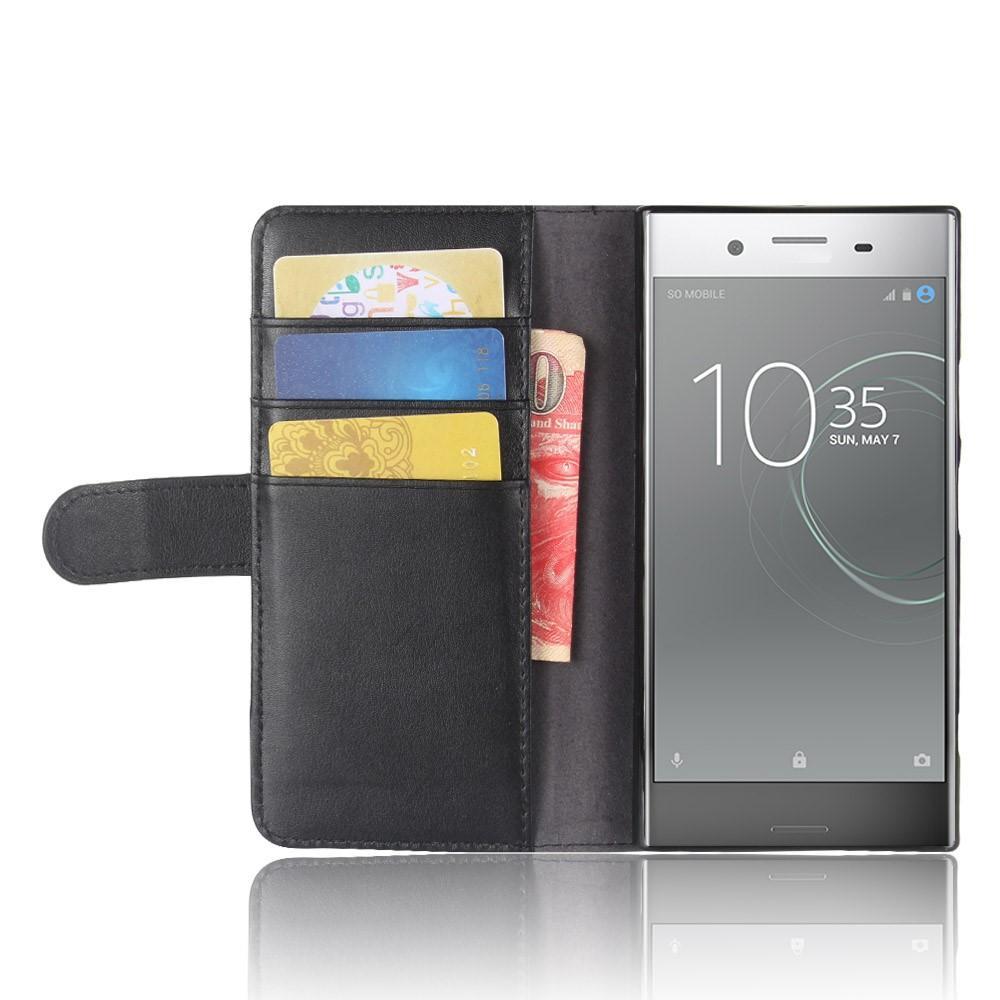Ekte Lærveske Sony Xperia XZ1 svart