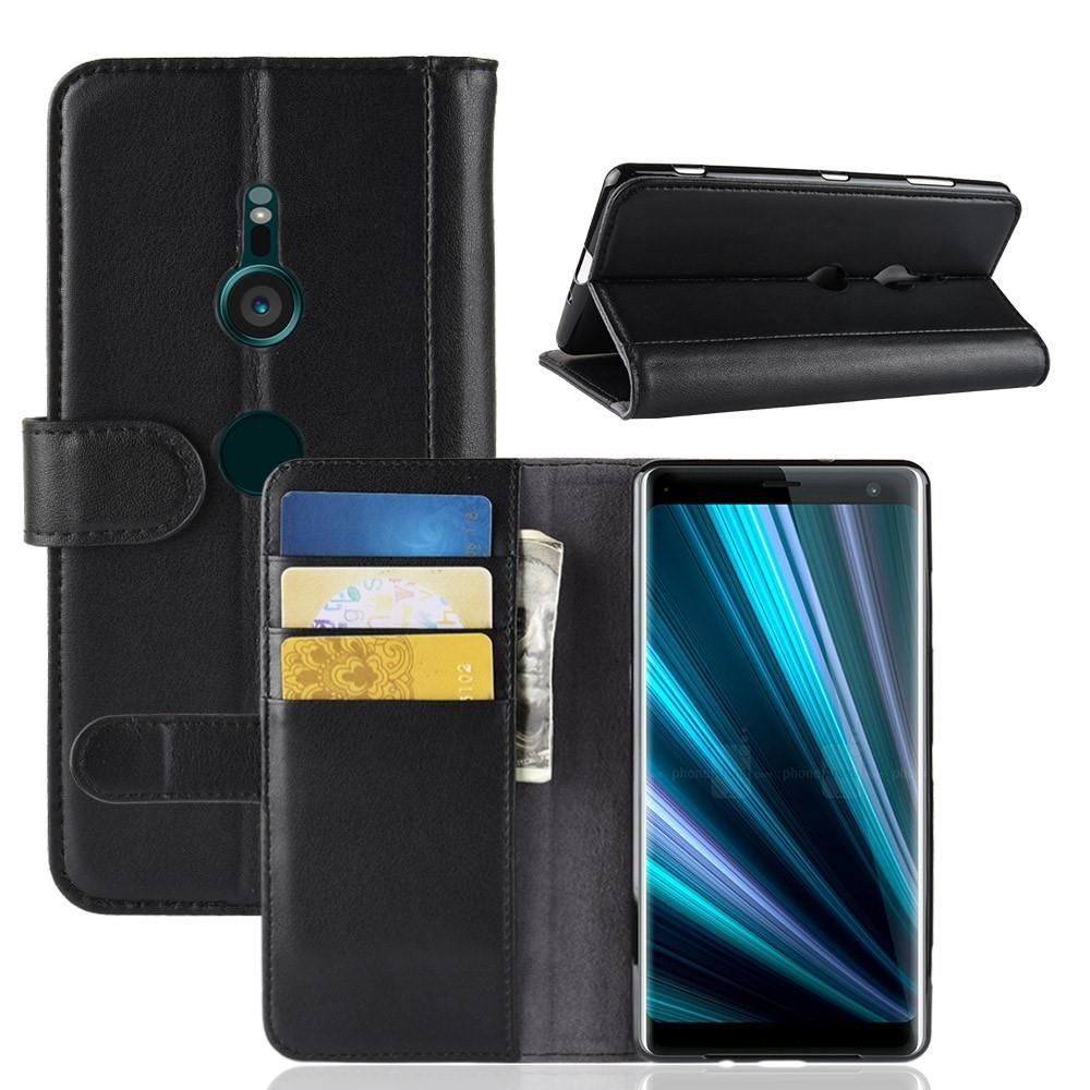 Ekte Lærveske Sony Xperia XZ3 svart