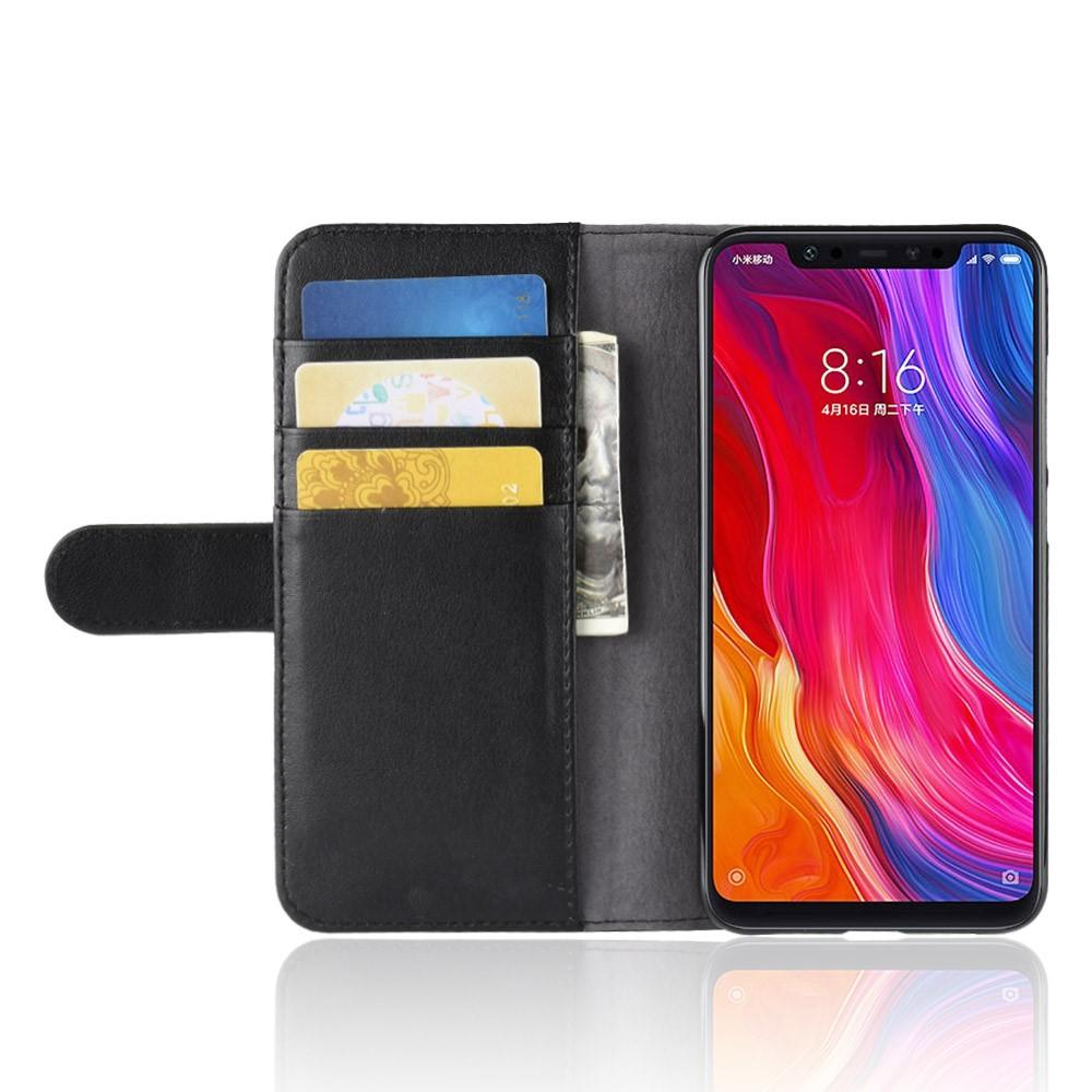 Ekte Lærveske Xiaomi Mi 8 svart