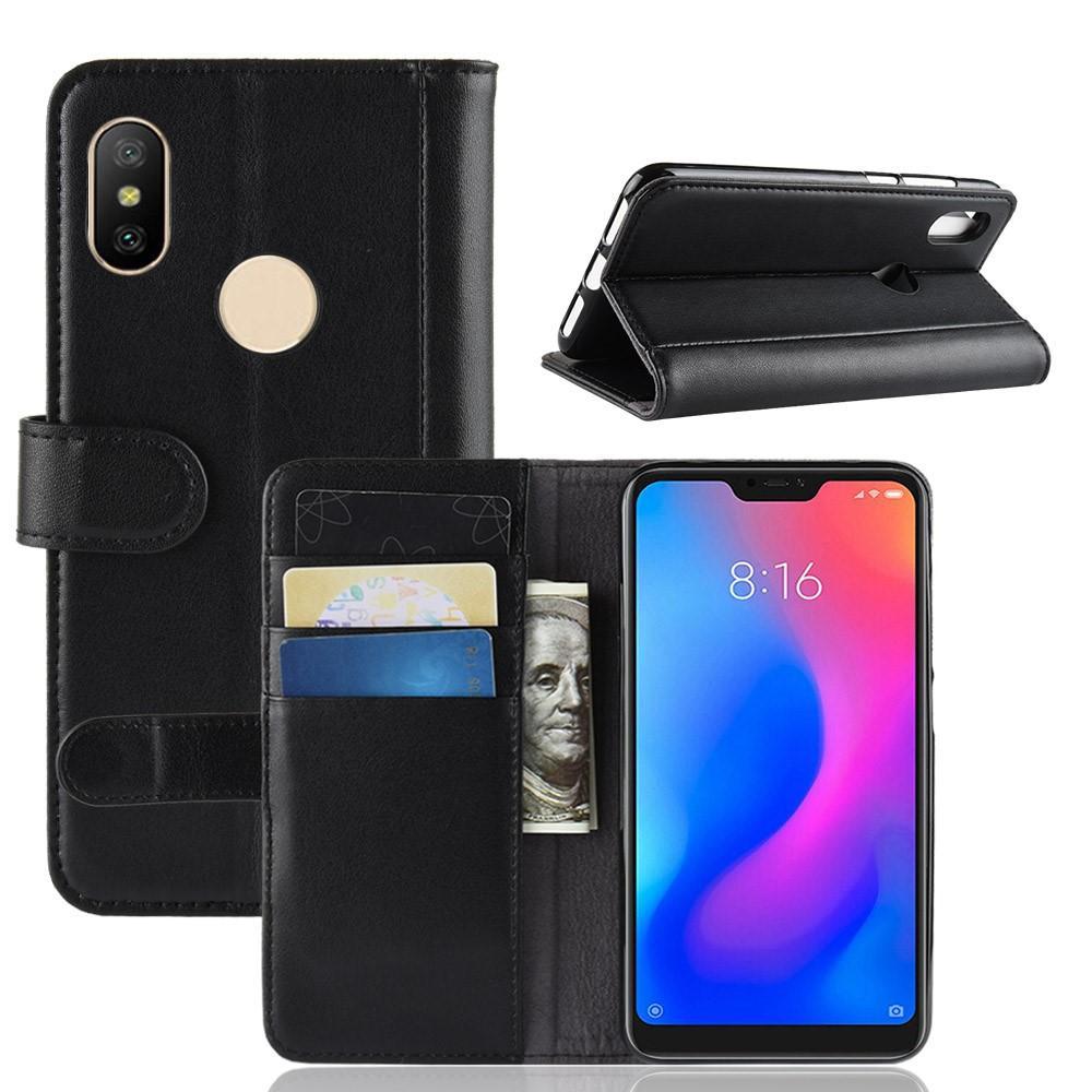 Ekte Lærveske Xiaomi Mi A2 Lite svart