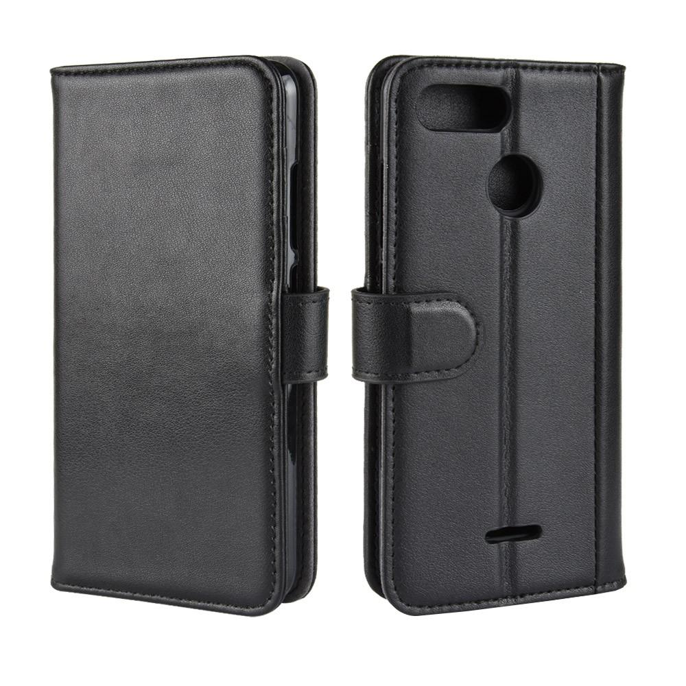 Ekte Lærveske Xiaomi Redmi 6 svart