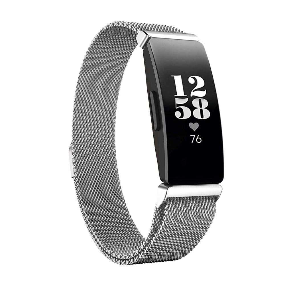 Armbånd Milanese Fitbit Inspire/Inspire HR/Inspire 2 sølv