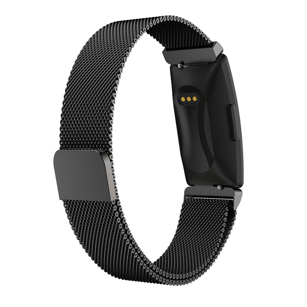 Armbånd Milanese Fitbit Inspire/Inspire HR/Inspire 2 svart