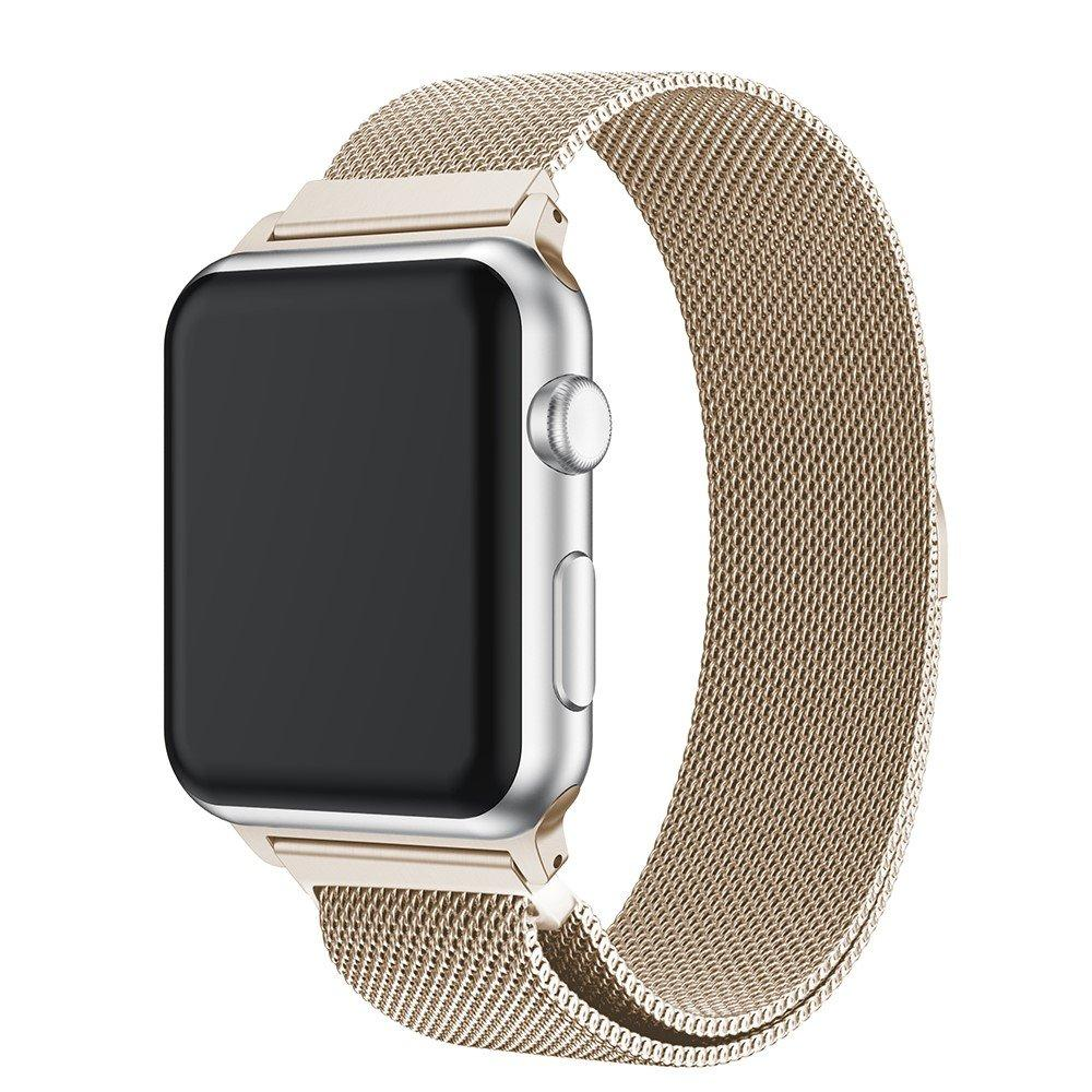 Armbånd Milanese Loop Apple Watch 42/44/45 mm champagnegull