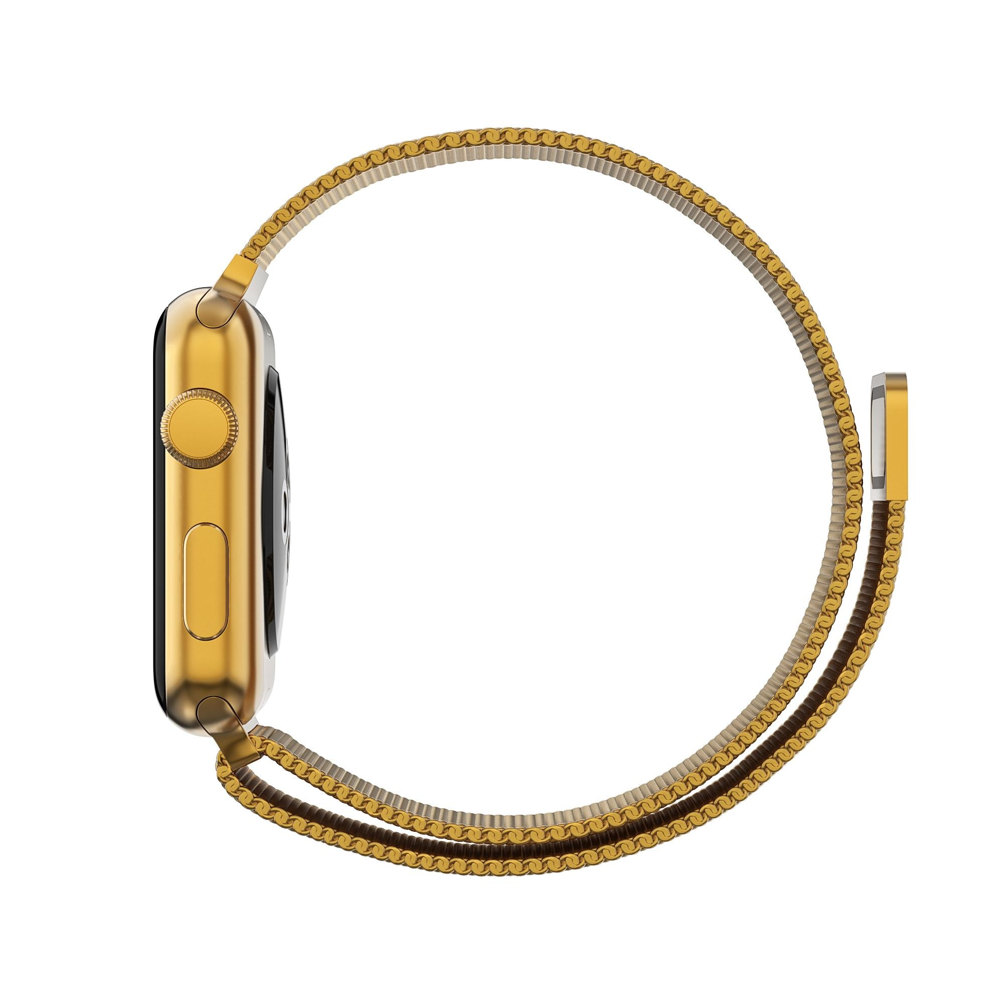 Armbånd Milanese Loop Apple Watch 42/44/45 mm gull