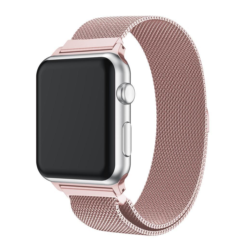 Armbånd Milanese Loop Apple Watch 42/44/45 mm rosa gull
