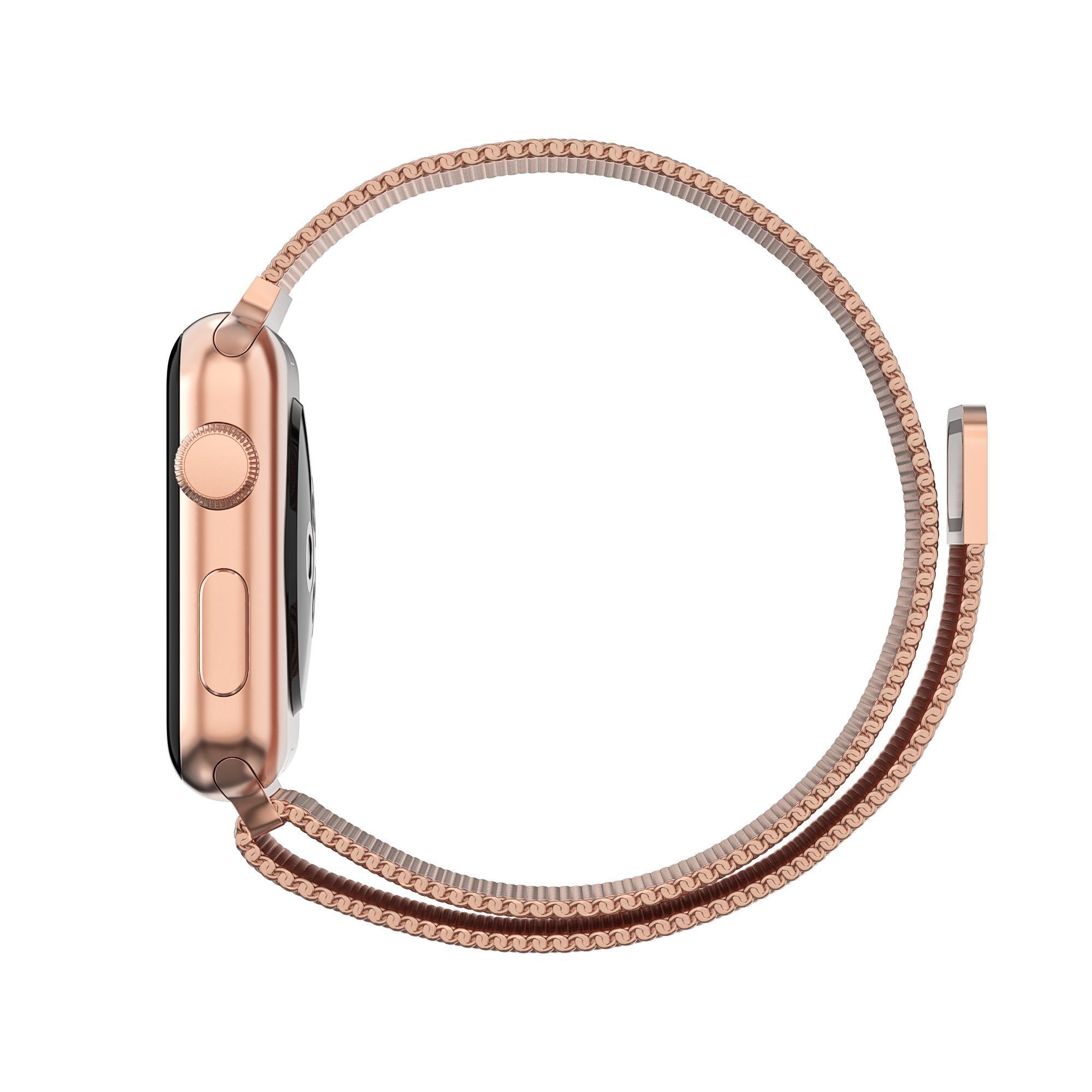 Armbånd Milanese Loop Apple Watch 42/44 mm rosegull