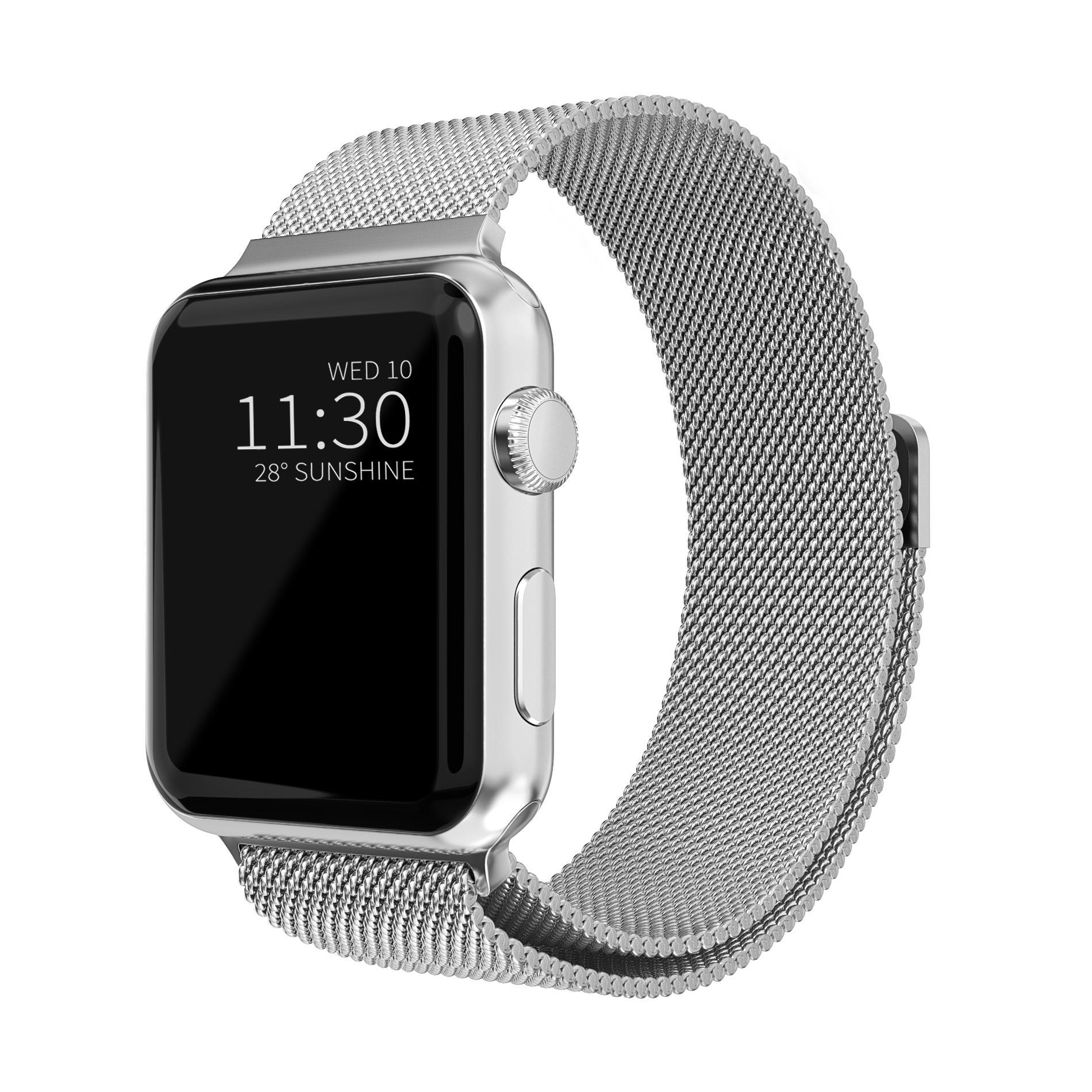 Armbånd Milanese Loop Apple Watch 42/44/45 mm sølv