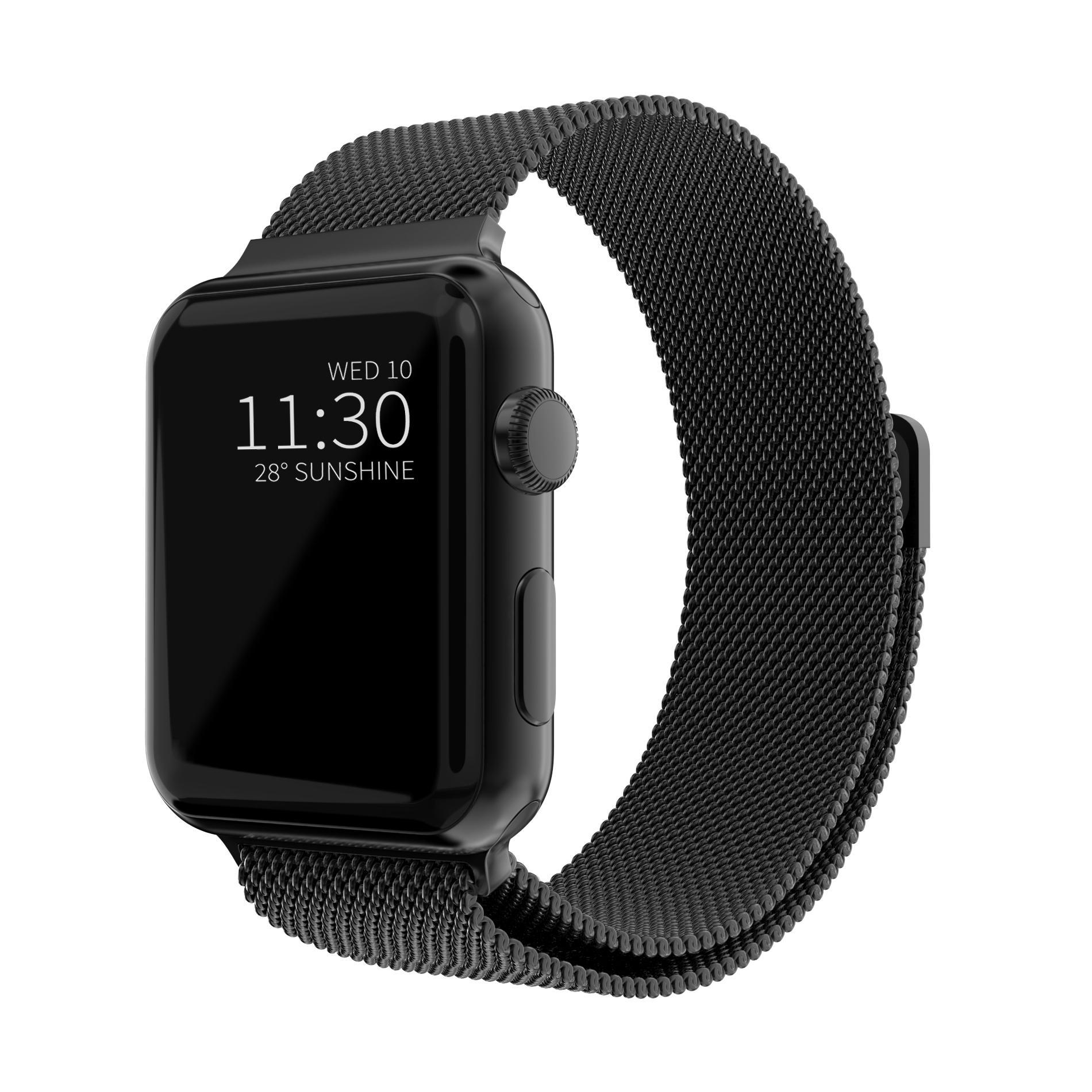 Armbånd Milanese Loop Apple Watch 42/44/45 mm svart
