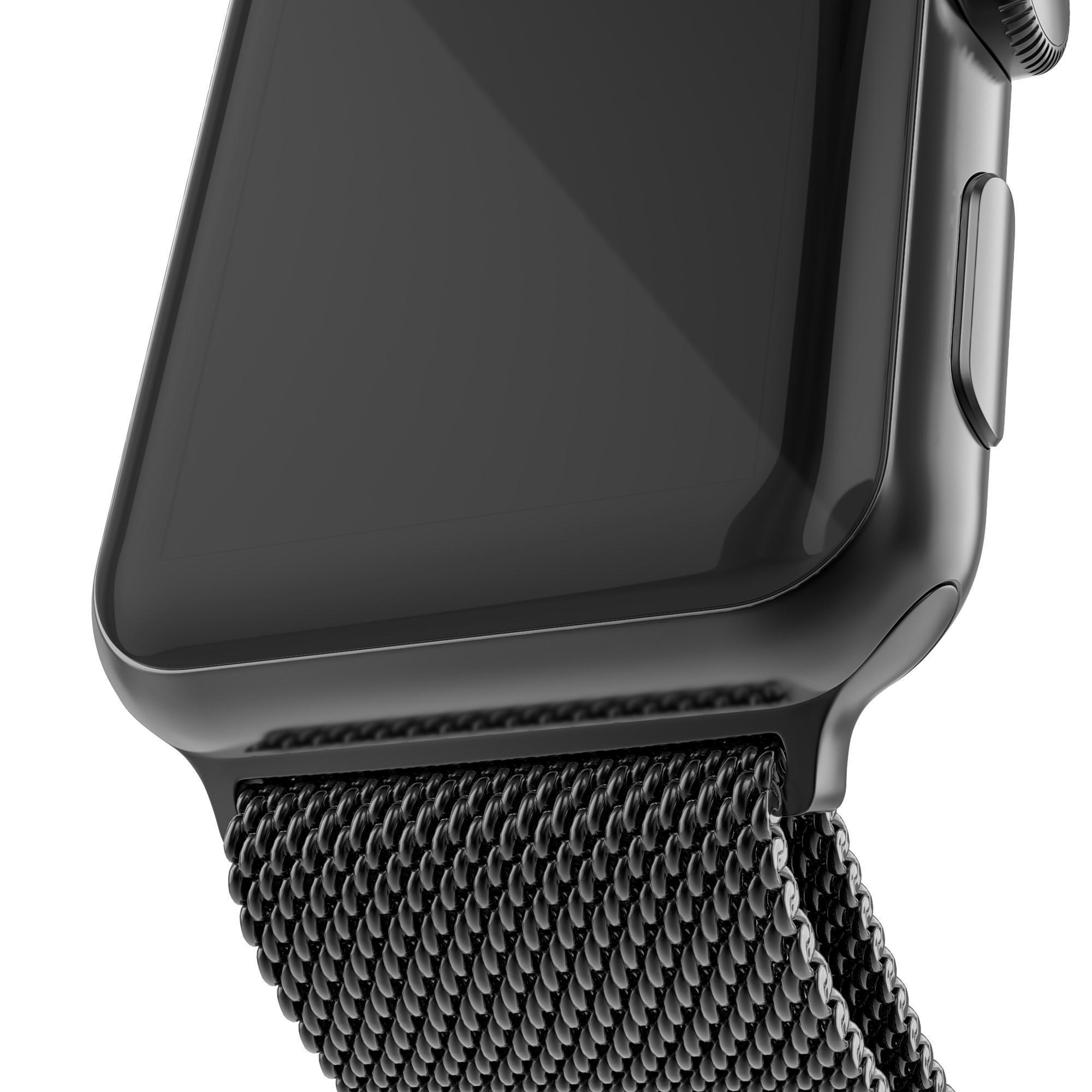Armbånd Milanese Loop Apple Watch 42/44 mm svart